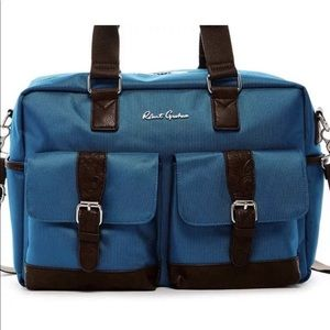 Robert Graham Bags - 🆕 Robert Graham Teal Brown Mens Pascal Duffel Bag